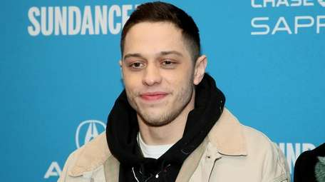 Pete Davidson at the premiere of the film