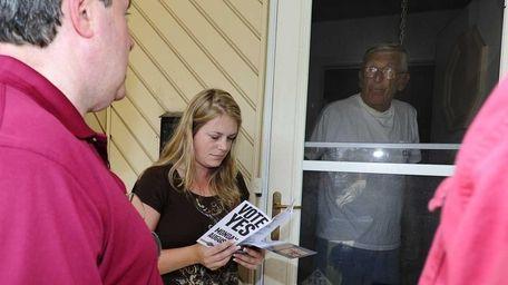 Business agent John Shepard talking to Pamela and