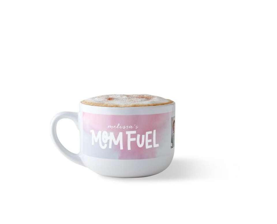 Personalize this extra large mug with designs, photos