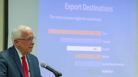 John Costanzo, president of Purolator International, speaks at