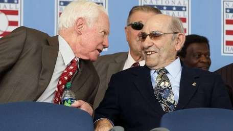 Hall of Famers (L-R) Whitey Ford and Yogi