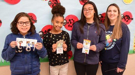 Student winners of Park Avenue Memorial Elementary School's