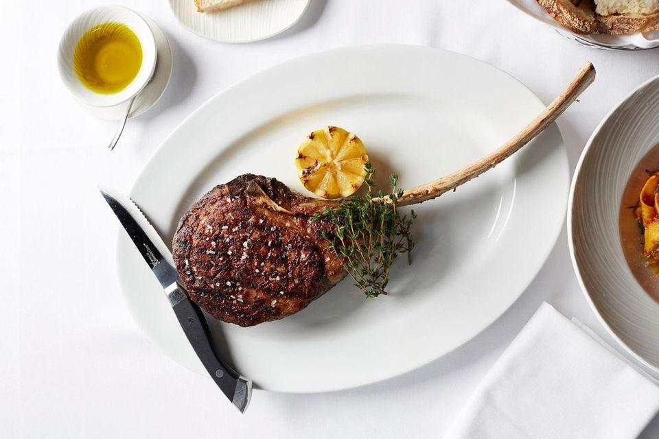 Tomahawk steak, Prime 1024, Roslyn, Feb. 8, 2019.