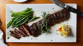 Prime skirt steak at Viaggio Italian Chop House