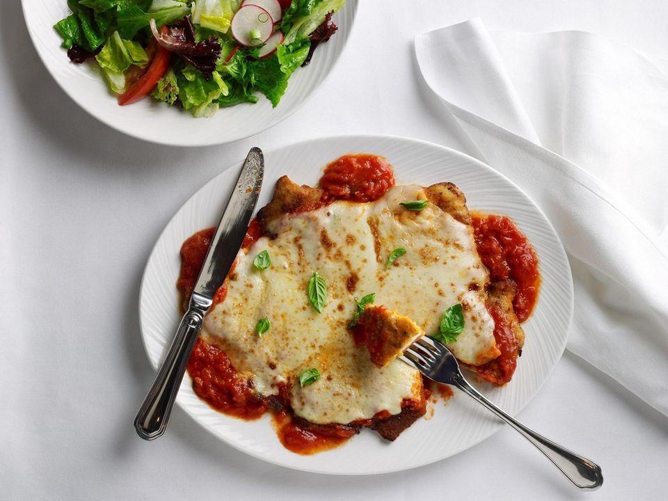 Chicken Parmigiana served at the Palm Restaurant in