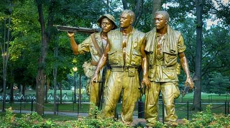 The Three Soldiers statue at the Vietnam Veterans