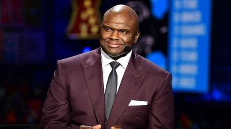 Booger McFarland during the 2019 NFL Draft on