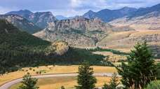 A view of the rugged Beartooth Mountains as
