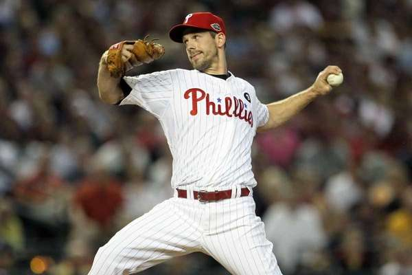 National League All-Star Cliff Lee of the Philadelphia