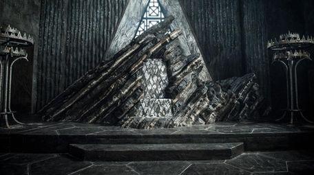 "Daenerys Targaryen's (Emilia Clarke) ""Dragonstone"" throne in HBO's"