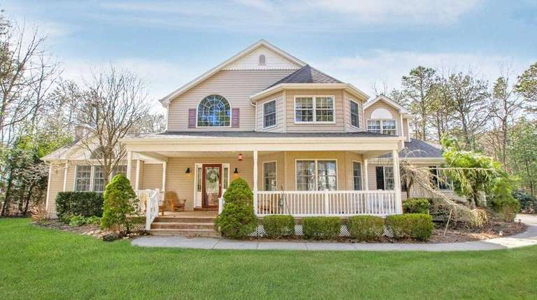 This Manorville Victorian, for $569,000, includes four bedrooms