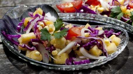 Pineapple, Red Cabbage and Onion Salad (June 28,