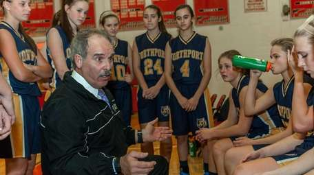 Northport girls basketball coach Rich Castellano instructs his