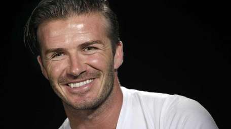 Soccer star David Beckham is in New York,
