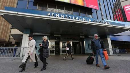 Penn Station, where service disruptions in place since