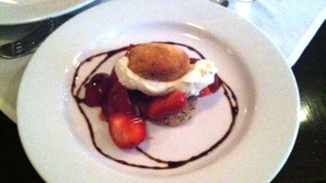 Strawberry shortcake at little/red restaurant in Southampton