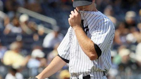 Boone Logan #48 of the New York Yankees