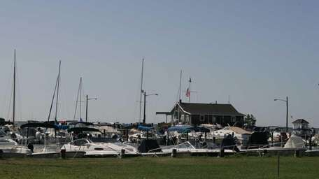 The Bellport Village Marina on Bellport Bay is