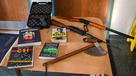 Evidence seized from a Connetquot High School student