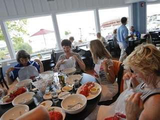 Diners prepare to feast on lobster at A