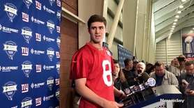 Quarterback Daniel Jones, the No. 6 overall draft