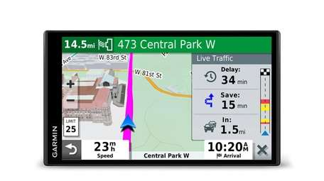 Garmin's DriveSmart 65 and Traffic provides directions and