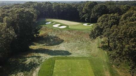 An aerial of the 3rd hole at the
