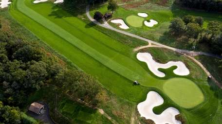 An aerial view of hole No. 12 at