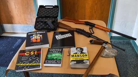 Evidence seized from a Connetquot High School student,