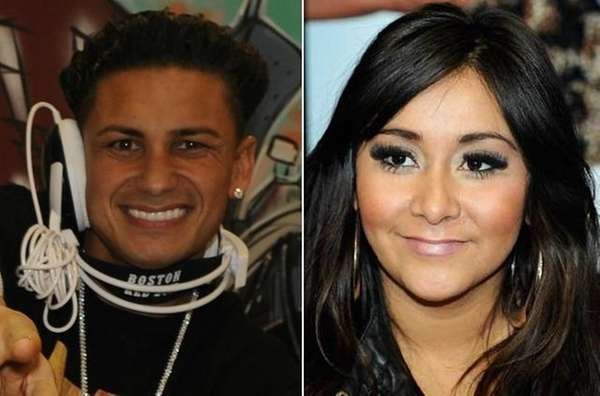 Pauly D and Nicole quot;Snookiquot; Polizzi from 'Jersey