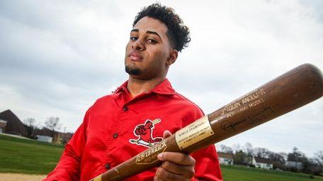 Bay Shore baseball player Jaison Andujar, the son