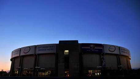 The exterior of Nassau Coliseum (July 15, 2011)