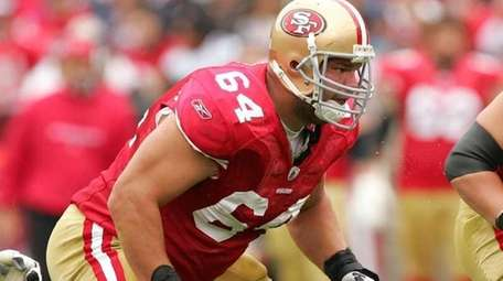 David Baas #64 ofthe San Francisco 49ers in