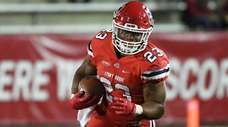 Stony Brook running back Jordan Gowins runs the