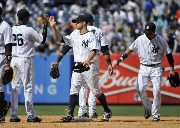 New York Yankees left fielder Brett Gardner, second