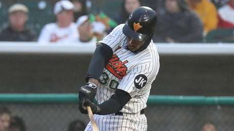 David Washington, who homered in the Ducks' home