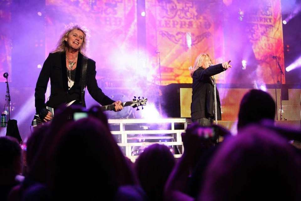 British heavy metal band Def Leppard plays at