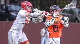 Manhasset's Joseph Terenzi gets caught from behind by