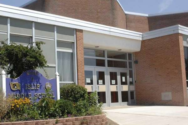 Islip Middle School, located on Main Street, is