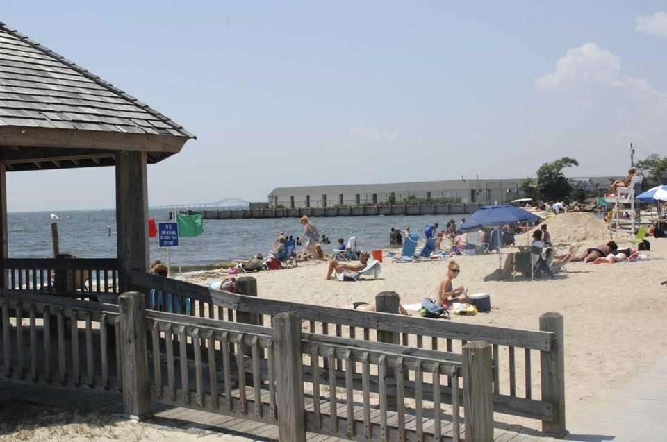 Beachgoers enjoy Islip Town Beach. (Aug. 1, 2011)