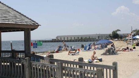 Beachgoers enjoy Islip Town Beach. (Aug. 1, 2011)