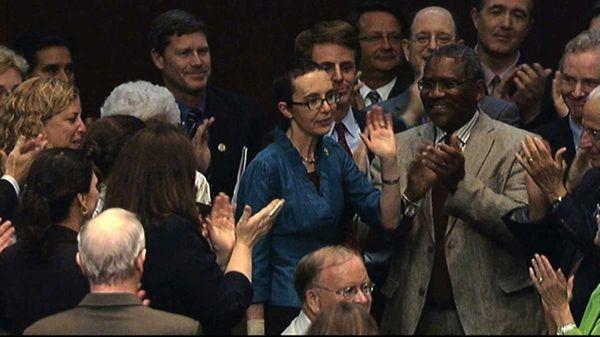 Rep. Gabrielle Giffords, D-Ariz., appears on the floor