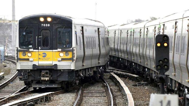 A file photo of LIRR trains.