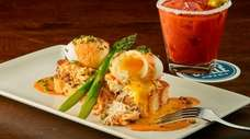 Crab Benedict is one of the brunch offerings
