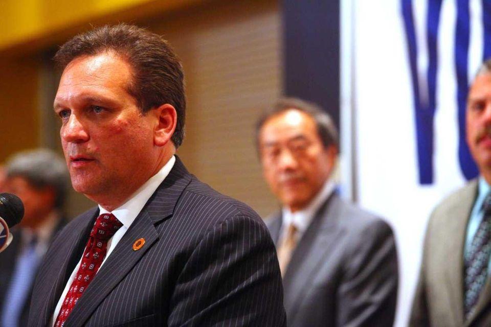 Nassau County Executive Edward Mangano and New York