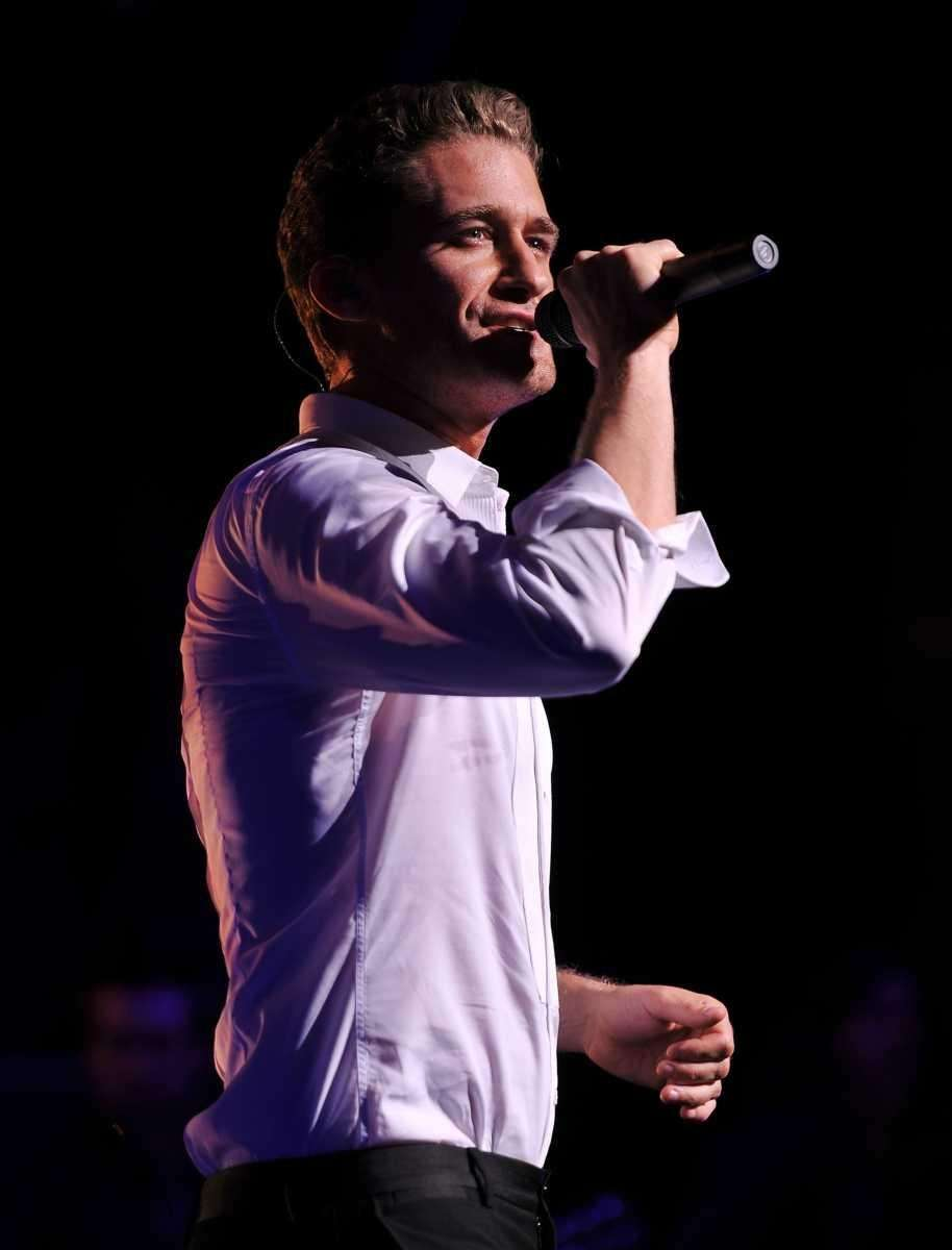Singer/actor Matthew Morrison performs at the Beacon Theatre