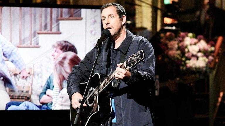 Adam Sandler sings a moving tribute to Chris
