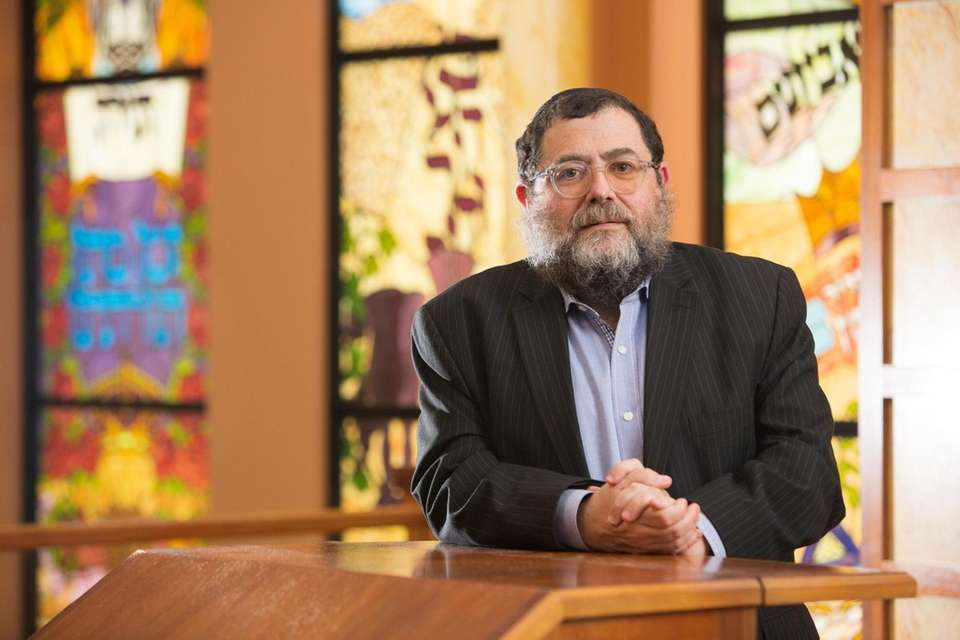 Rabbi Yakov Saacks poses for a portrait at