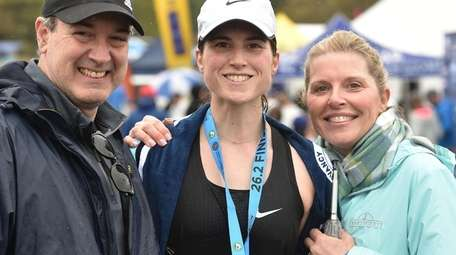 Alyssa Salese of Huntington, women's Long Marathon winner,