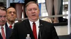 Secretary of State Mike Pompeo at the State